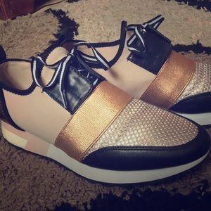 Steve Madden Women's Antics Sneaker Rose Gold 7.5